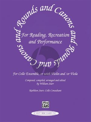 Rounds and Canons for Reading, Recreation and Performance (1 - 3 Violoncellos) (Score/Parts) (edited by William Starr)