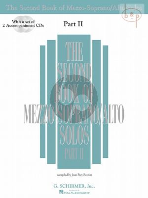 Second Book of Mezzo-Soprano/Alto Solos vol.2 Bk- 2 CD's
