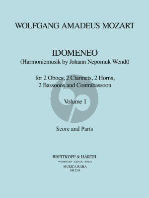 Mozart Idomeneo KV 366 Vol. 1 2 Ob- 2 Clar- 2 Hrns- 2 Bsns and Contrabsn (Score/Parts) (J.N. Wendt)