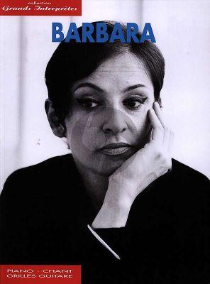 Barbara Grands Interpretes (35 Chansons) (Piano-Vocal-Guitar)