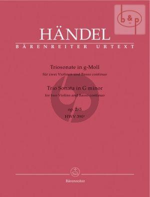 Trio Sonata g-minor Op.2 No.5 (HWV 390a)