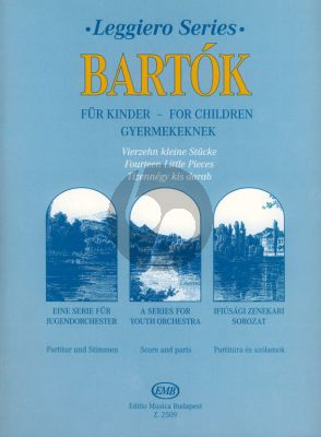"""Bartok 14 Little Pieces from """"For Children"""" String Orchestra (Score/Parts)"""