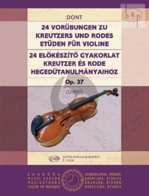24 Vorubungen Op.37 zu Kreutzers und Rodes Etuden