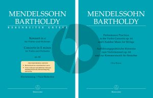 Mendelssohn Concerto e-minor Op.64 Violin-Orchestra Late Version (piano red.) (edited by Larry R. Todd and Clive Brown) (Barenreiter-Urtext)