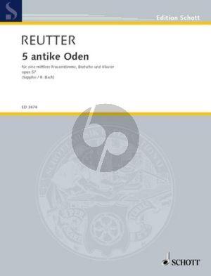Reutter 5 Antike Oden Op.57 (Mittel St.-Viola-Klavier)