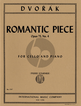 Dvorak Romantic Piece Op.75 No.4 Violoncello-Piano (Pierre Fournier)