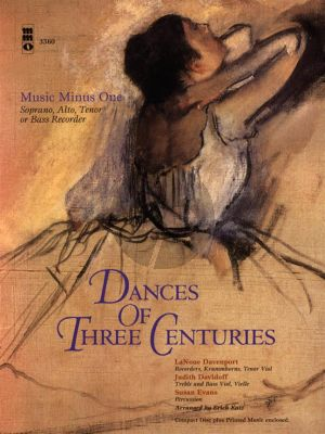 Dances of Three Centuries (Soprano, Alto Tenor Recorder) (Bk-Cd) (MMO minus Recorder)