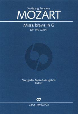 Mozart Missa Brevis G-dur KV 140 Soli-Chor-Orch. Vocal Score
