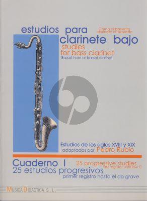 Estudios para Clarinete Bajo Vol.1