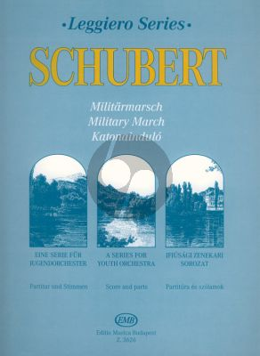 Schubert Military March for Youth String Orchestra Score and Parts (Transcribed by W. Fischhoff)