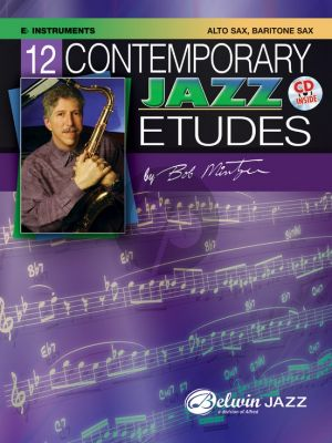 Mintzer 12 Contemporary Jazz Etudes for Eb Instruments (Bk-Cd)