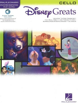 Disney Greats for Violoncello (15 Songs) (Bk-Audio Access Code) (Grade 2-3)