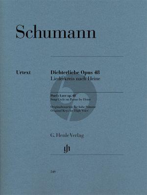 Schumann Dichterliebe Op.48 Originaltonarten Hohe Stimme / Original Keys High Voice (Kazuko Ozawa) (Henle-Urtext)