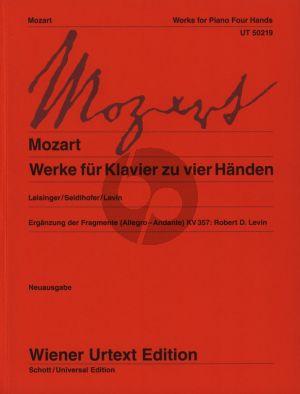 Mozart Werke Klavier 4 handen (Leisinger-Seidlhofer-Levin) (Wiener-Urtext)