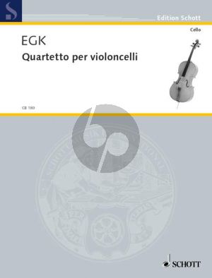 Egk Quartetto (1926) (4 Vc.) (Score/Parts) (Grade 4)