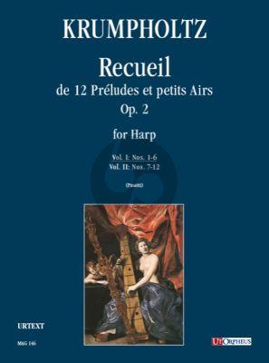 Krumpholtz Recueil de 12 Preludes et Petits Airs Op.2 Vol.1 (No.1-6) Harp (Anna Pasetti)