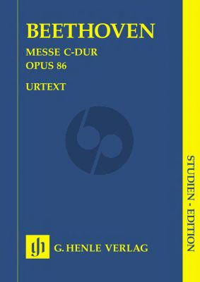 Beethoven Messe C-dur Op.86 (Studien Partitur) (Henle-Urtext)
