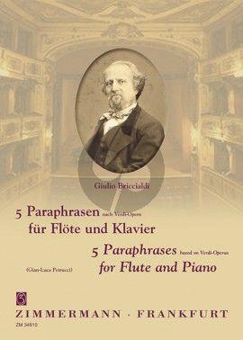 Briccialdi 5 Paraphrasen nach Verdi-Opern Flöte-Klavier (Gian-Luca Petrucci)