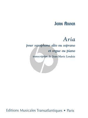 Rivier Aria Alto Sax.or Soprano Sax. with Organ (transcr. Londeix)