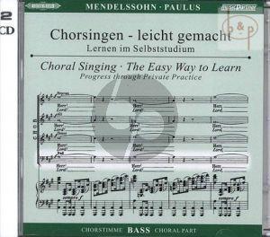 Paulus Op.36 Bass Chorstimme 2 CD's