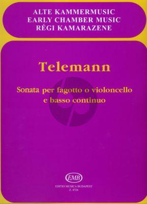 Telemann Sonata E-flat major Bassoon(Vc.)-Bc (Imre Rudas)