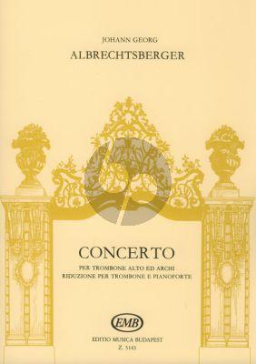 Concerto B-flat major Alto Trombone-String Orch.