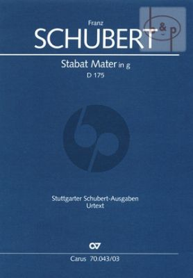 Stabat Mater g-minor D.175 (SATB-Orch.)