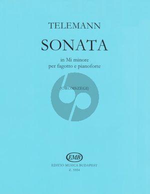 Telemann Sonata e-minor (orig.viola da gamba) Bassoon-Piano (Oromszegi)