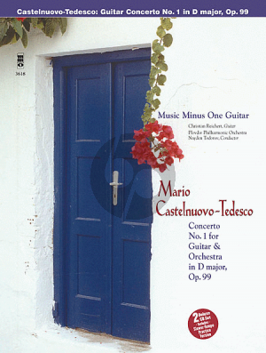 Castelnuovo-Tedesco Concerto No.1 D-Major Op.99 Guitar-Orchestra (Bk-2 CD's)