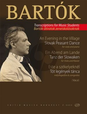 Bartok An Evening in the Village - Slovak Peasant Dance (Viola and Piano) (Karoly Vaczi)