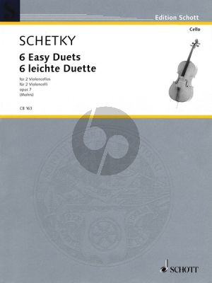 Schetky 6 easy Duets Op.7 2 Violoncellos (Score) (edited by Rainer (Mohrs)