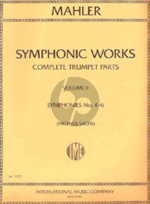 Mahler Symphonic Works Vol.2 Symphonies No.4-6 (Complete Trumpet Parts) (Michael Sachs)