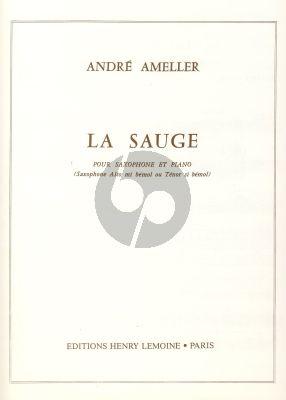 Ameller La Sauge Saxophone Alto or Tenor et Piano (Easy)