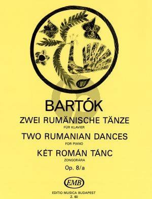 Bartok 2 Rumanian Dances Op.8 /A Piano