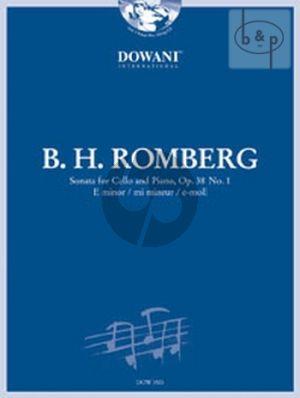 Romberg Sonata E-Minor Op.38 No.1 Cello and Piano (Bk-Cd) (Jansen) (Dowani 3 Tempi Play-Along)