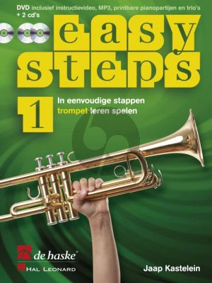 Kastelein Easy Steps Vol.1 Trompet (Bk-DVD- 2 CD's)
