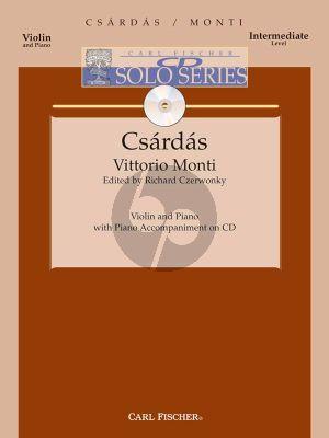 Monti Csardas Violin-Piano (Bk-Cd) (Czerwonky)