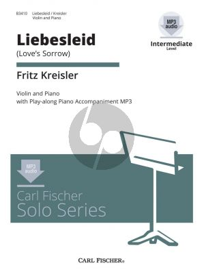 Kreisler Liebesleid -Love's Sorrow Violin and Piano (book with MP3 files) (Intermediate Level)