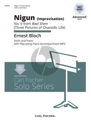Bloch Nigun (Improvisation) (No.2 Baal Shem) Violin-Piano (Bk-Cd)