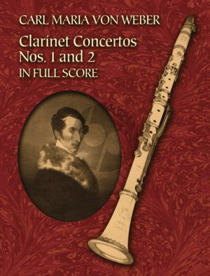 Weber Two Clarinet Concertos Full Score (Dover)
