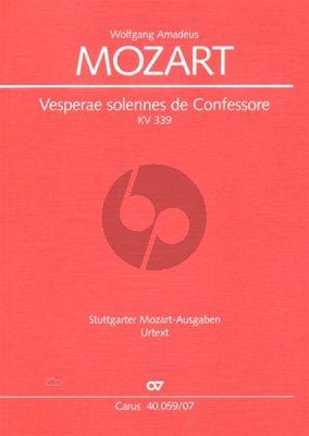 Mozart Vesperae Sonennes de Confessore KV 339 Studienpartitur (Wolfgang Horn)