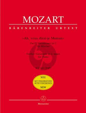 Mozart Variations Ah! vous dirai-je Maman KV 265 Klavier