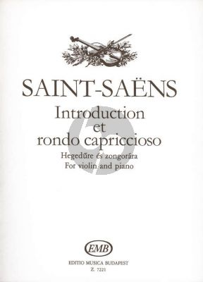 Saint-Saens Introduction & Rondo Capriccioso Op.28 Violin and Orchestra (piano reduction by Georges Bizet)