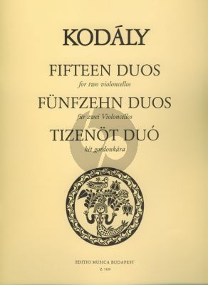 Kodaly 15 Duos (from 33 2-part Exercises) 2 Violoncellos (Jeno Jako)