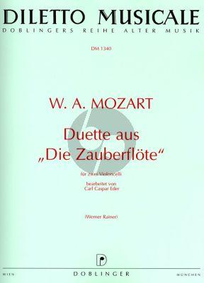 Mozart Duette aus die Zauberflote 2 Violoncellos