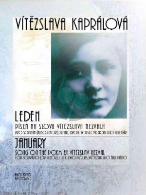 Kapralova January   Leden (1933) (Soprano or Tenor-Flute-2 Violins-Viol;oncello-Piano) (Score/Parts)