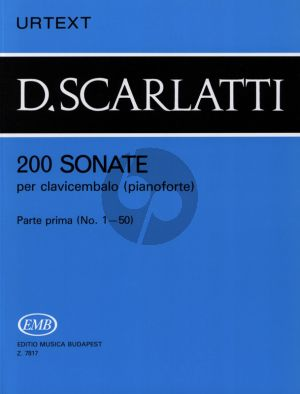Scarlatti 200 Sonatas Vol.1 Harpsichord (Urtext) (edited G.Balla)