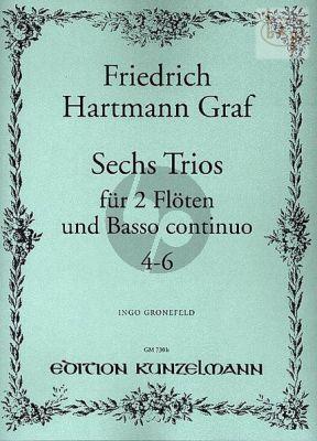 6 Trios Op.3 Vol.2 (No.4 - 6) 2 Flöten-Bc