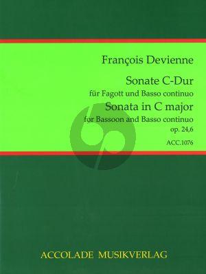 Devienne 6 Sonaten Op.24 No.6 C-dur Fagott-Bc (Jörg Dähler)