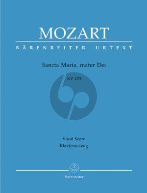 Mozart Sancta Maria, mater Dei KV 273 SATB-2 Vi.-Va.- Bc Vocal Score (ed. Helmut Federhofer)